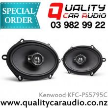 "Kenwood KFC-PS5795C 5x7"" / 6x8"" 320W 3 Ways Car Speakers (Pair) with Easy Layby"