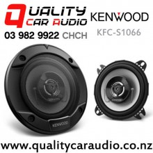 "Kenwood KFC-S1066 4"" 220W (21W RMS) 2 Way Coaxial Car Speakers (pair) with Easy Finance"
