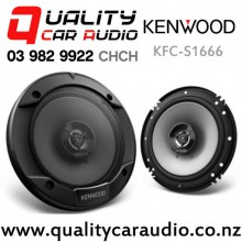 "Kenwood KFC-S1666 6.5"" 300W (30W RMS) 2 Way Coaxial Car Speakers (pair) with Easy Finance"