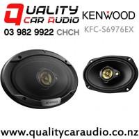 "Kenwood KFC-S6976EX 6x9"" 500W (80W RMS) 3 Way Coaxial Car Speakers (pair) with Easy Finance"
