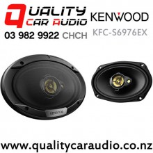 "Kenwood KFC-S6976EX 6x9"" 500W (80W RMS) 3 Way Coaxial Car Speakers (pair) with Easy Finance"