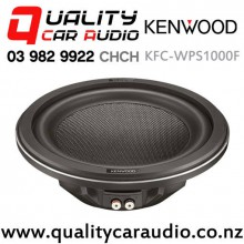 "Kenwood KFC-WPS1000F 10"" 1000W (250W RMS) Single 4 ohm Voice Coil Shallow Mount Car Subwoofer with Easy Finance"