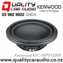 "Kenwood KFC-WPS1200F 12"" 1400W (350W RMS) Single 4ohm Voice Coil Car Subwoofer with Easy LayBy"
