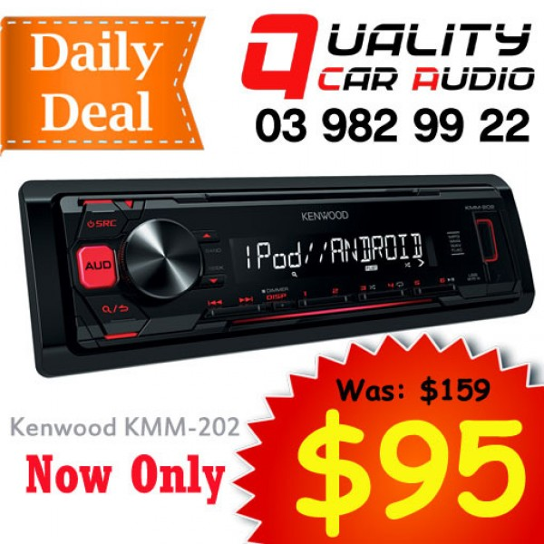 Kenwood KMM-202 USB AUX iPod Android NZ Tuners 1x Pre Out with Easy Layby
