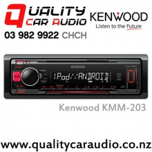 Kenwood KMM-203 USB AUX Smart Phone Support 2x Preouts Mechaless Car Stereo with Easy Finance
