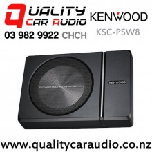 Kenwood KSC-PSW8 250W (150W RMS) Under Seat Style Active Car Subwoofer with Easy Finance