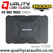"Kicker 11HS8 8"" 150W RMS Under Seat Active Car Subwoofer  with Easy LayBy"