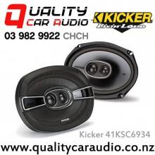 "Kicker 41KSC6934 6x9"" 300W (150W RMS) 3 Way Car Speakers (Pair) with Easy LayBy"