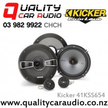 "Kicker 41KSS654 6.5"" 250W (125W RMS) 2 Way Component Car Speakers with Easy LayBy"