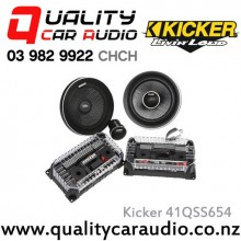 "Kicker 41QSS654 6.5"" 180W (90W RMS) 2 Way Component Car Speakers with Easy LayBy"