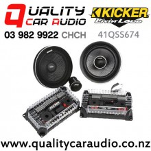 "Kicker 41QSS674 6.75"" 200W (100W RMS) 2 Way Component Car Speakers (pair) with Easy Finance"