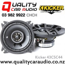 "Kicker 43CSC44 4"" 150W (50W RMS) 2 Way Coaxial Car Speakers with Easy LayBy"