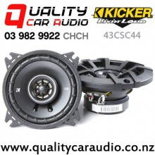 "Kicker 43CSC44 4"" 150W (50W RMS) 2 Way Coaxial Car Speakers with Easy Finance"
