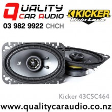 "Kicker 43CSC464 4x6"" 150W (50W RMS) 2 Way Coaxial Car Speakers with Easy LayBy"