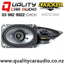 "Kicker 43CSC464 4x6"" 150W (50W RMS) 2 Way Coaxial Car Speakers (pair) with Easy Finance"