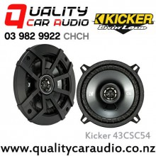 "Kicker 43CSC54 5.25"" 225W (75W RMS) 2 Way Coaxial Car Speakers with Easy LayBy"