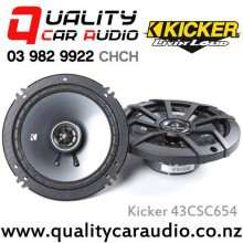 "Kicker 43CSC654 6.5"" 300W (100W RMS) 2 Way Coaxial Car Speakers with Easy LayBy"