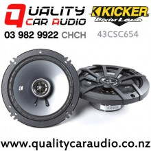 "Kicker 43CSC654 6.5"" 300W (100W RMS) 2 Way Coaxial Car Speakers (pair) with Easy Finance"