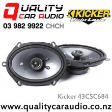 "Kicker 43CSC684 6x8"" 225W (75W RMS) 2 Way Coaxial Car Speakers with Easy LayBy"