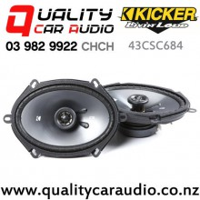 "Kicker 43CSC684 6x8"" 225W (75W RMS) 2 Way Coaxial Car Speakers (pair) with Easy Finance"