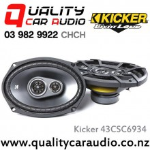 "Kicker 43CSC6934 6x9"" 450W (150W RMS) 2 Way Coaxial Car Speakers with Easy LayBy"