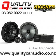 "Kicker 43CSS654 6.5"" 300W (100W RMS) 2 Way Component Car Speakers with Easy Layby"