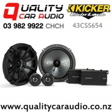 "Kicker 43CSS654 6.5"" 300W (100W RMS) 2 Way Component Car Speakers (pair) with Easy Finance"