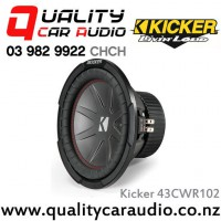 "Kicker 43CWR102 10"" 600W (400W RMS) Dual 2 ohm Voice Coils Car Subwoofer with Easy LayBy"
