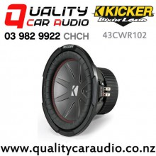 """Kicker 43CWR102 10"""" 600W (400W RMS) Dual 2 ohm Voice Coils Car Subwoofer with Easy Finance"""