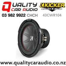 "Kicker 43CWR104 CompR 10"" 800W (400W RMS) Dual 4 ohm Voice Coils Car Subwoofer with Easy Finance"