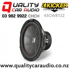 """Kicker 43CWR122 CompR 12"""" 1000W (500W RMS) Dual 2 ohm Voice Coils Car Subwoofer with Easy Finance"""