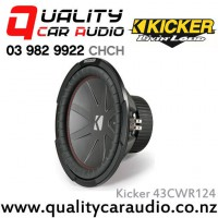 "Kicker 43CWR124 CompR 12"" 1000W (500W RMS) Dual 4 ohm Voice Coils Car Subwoofer  with Easy LayBy"