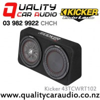 "Kicker CompRT 43TCWRT102 Single 10"" 800W (400W RMS) 2 ohm Car Subwoofer Enclosure with Easy LayBy"