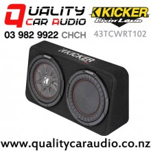 """Kicker CompRT 43TCWRT102 Single 10"""" 800W (400W RMS) 2 ohm Car Subwoofer Enclosure with Easy Finance"""