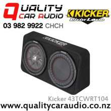 "Kicker CompRT 43TCWRT104 Single 10"" 800W (400W RMS) 4 ohm Car Subwoofer Enclosure with Easy LayBy"
