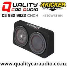 """Kicker CompRT 43TCWRT104 Single 10"""" 800W (400W RMS) 4 ohm Car Subwoofer Enclosure with Easy Finance"""