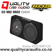 "Kicker CompRT 43TCWRT122 Single 12"" 1000W (500W RMS) 2 ohm Car Subwoofer Enclosure with Easy LayBy"