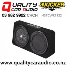 """Kicker CompRT 43TCWRT122 Single 12"""" 1000W (500W RMS) 2 ohm Car Subwoofer Enclosure with Easy LayBy"""