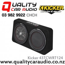 "Kicker CompRT 43TCWRT124 Single 12"" 1000W (500W RMS) 4 ohm Car Subwoofer Enclosure with Easy LayBy"