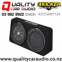 "Kicker CompRT 43TCWRT124 Single 12"" 1000W (500W RMS) 4 ohm Car Subwoofer Enclosure with Easy Finance"