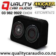 """Kicker 43TCWRT672 6.75"""" 300W (150W RMS) 2 ohm Voice Coil Truck Style Subwoofer Enclosure with Easy Finance"""