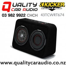 """Kicker 43TCWRT674 6.75"""" 300W (150W RMS) 4 ohm Voice Coil Truck Style Subwoofer Enclosure with Easy Finance"""