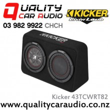 "Kicker CompRT 43TCWRT82 Single 8"" 600W (300W RMS) 2 ohm Car Subwoofer Enclosure with Easy LayBy"