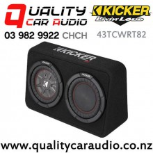 "Kicker CompRT 43TCWRT82 Single 8"" 600W (300W RMS) 2 ohm Car Subwoofer Enclosure with Easy Finance"