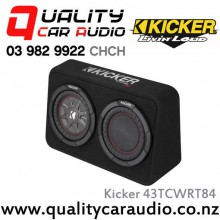 "Kicker CompRT 43TCWRT84 Single 8"" 600W (300W RMS) 4 ohm Car Subwoofer Enclosure with Easy LayBy"