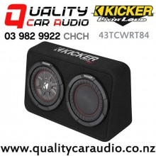 "Kicker CompRT 43TCWRT84 Single 8"" 600W (300W RMS) 4 ohm Car Subwoofer Enclosure with Easy Finance"