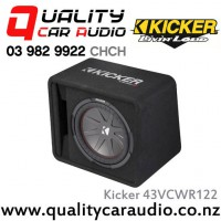 "Kicker 43VCWR122 12"" 1000W (500W RMS) 2 ohm Car Subwoofer Enclosure with Easy LayBy"