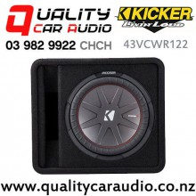 """Kicker 43VCWR122 12"""" 1000W (500W RMS) 2 ohm Car Subwoofer Enclosure with Easy Finance"""