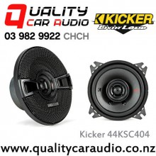 "Kicker 44KSC404 4"" 150W (75 RMS) 2 Way Coaxial Car Speakers with Easy LayBy"