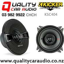 "Kicker KSC404 4"" 150W (75 RMS) 2 Way Coaxial Car Speakers (pair) with Easy Finance"